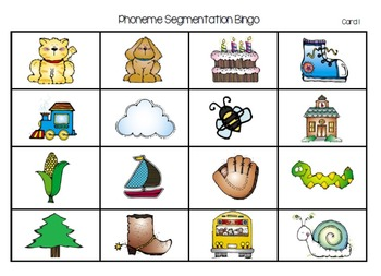 Phoneme Segmentation Bingo