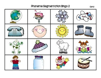 Phoneme Segmentation Bingo 2