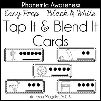 Phoneme Segmentation & Blending: Tap It & Blend It Cards