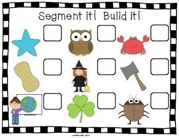 Phoneme Segmentation Bundle of Activities and Worksheets