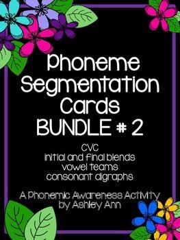 Phonemic Awareness, BUNDLE #2 (90 Phoneme Segmentation Cards)