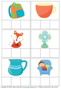 Phoneme Segmentation Cards {Pack 2}