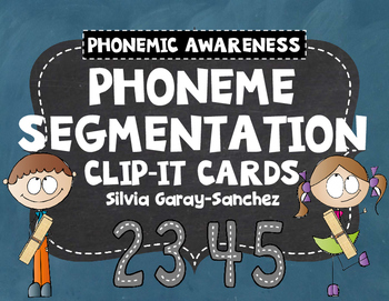 Phoneme Segmentation Clip It Cards