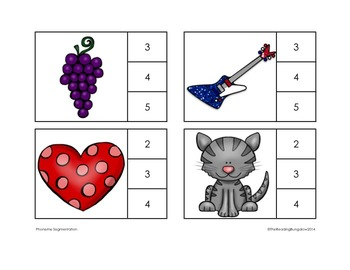 Phoneme Segmentation Clothespin Cards {Great for DIBELS}