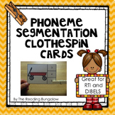 Phoneme Segmentation Clothespin Cards {Great for DIBELS}