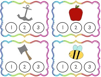 Phoneme Segmentation Clothespin Task Cards