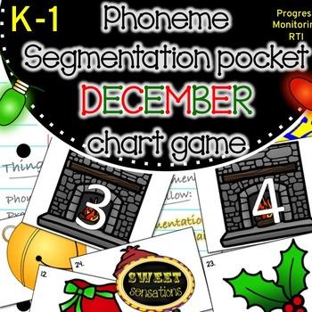 Phoneme Segmentation DECEMBER pocket chart game K-1 (RFK.2D, RF1.2D)