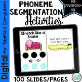 Phoneme Segmentation Activities - Digital Hands-on Sliding Cards