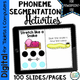 Phoneme Segmentation Activities - Digital Hands-on Sliding Cards