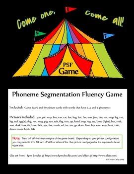 Phoneme Segmentation Fluency Game
