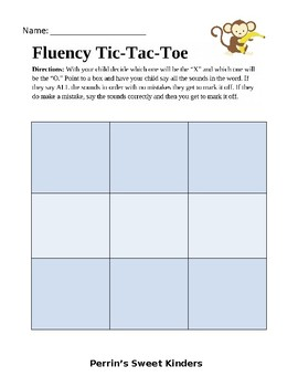 Phoneme Segmentation Fluency Tic-Tac-Toe EDITABLE