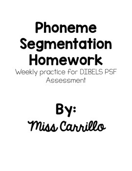 Phoneme Segmentation Homework