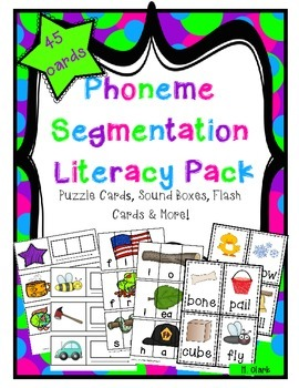 Phoneme Segmentation Literacy Pack {Guided Reading, Intervention, DIBELS}