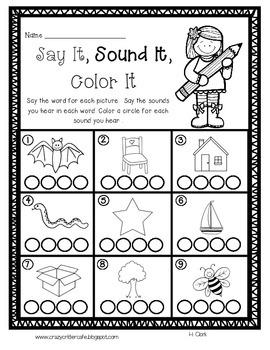 Phoneme Segmentation Literacy Pack {Guided Reading, Intervention, DIBELS}