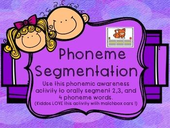 Phoneme Segmentation Mats - Freebie