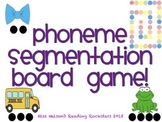 Phoneme Segmentation PSF Board Game!  Great DIBELS practice!