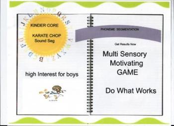 Phoneme Segmentation, Phonemic Awareness, Karate Chop the Sounds, RTI, Sped,