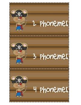 Phoneme Segmentation Pirate Theme