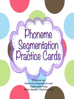 Phoneme Segmentation Practice Cards