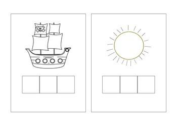 Literacy Station: Phoneme Segmentation Practice Cards, Elkonin Boxes