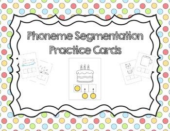 Literacy Station: Phoneme Segmentation Practice Cards, Elk