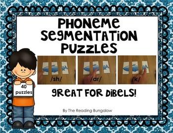 Phoneme Segmentation Puzzles {Great for DIBELS/AIMSWEB}