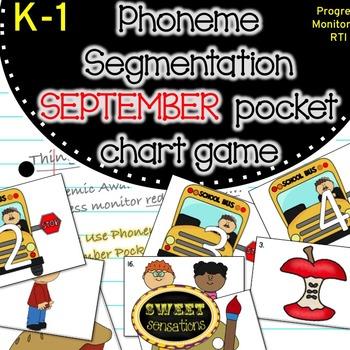Phoneme Segmentation SEPTEMBER pocket chart game K-1 (RFK.2D, RF1.2D)