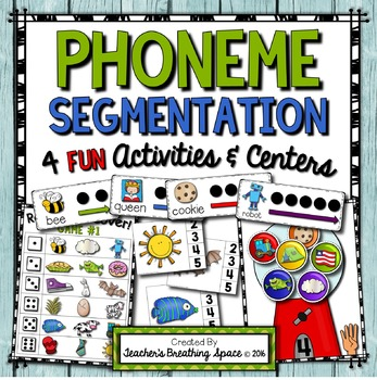 Phoneme Segmentation --- Sorting, Clip Cards, Segmenting Cards and Fluency Game
