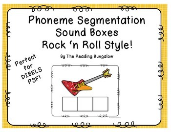Phoneme Segmentation Sound Boxes {Elkonin Boxes - great fo