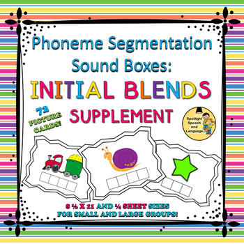 Phoneme Segmentation Sound Boxes - Initial Blends Supplement