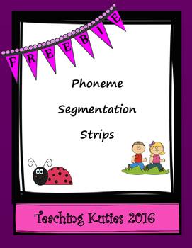 Phoneme Segmentation Strips Freebie