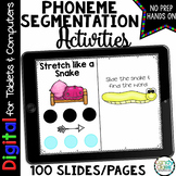 Phoneme Segmentation Fluency Practice for Google Classroom Use