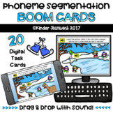 Phoneme Segmentation: Digital BOOM Task Cards {NO PREP!} Penguin Theme