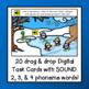 Phoneme Segmentation: Digital BOOM Task Cards {NO PREP!} Penguin Theme