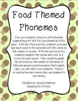 Phoneme Segmenting - Food