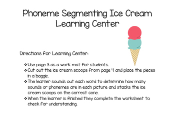 Phoneme Segmenting Ice Cream