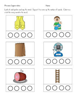 Phoneme Segmenting - Pack 2