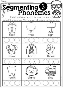 Phoneme Segmenting Printables