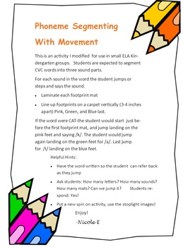 Phoneme Segmenting with Movement