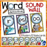 Phoneme Sound and Word Wall Poster Set with Flashcards for
