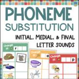 Phoneme Substitution Activities: Beginning, Middle & Ending Phoneme Manipulation