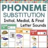 Phoneme Substitution Activities Beginning Middle Ending Phoneme Manipulation