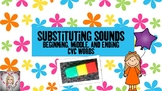 Phoneme Substitution Activity- Beginning, Middle, and Ending Sounds in CVC Words