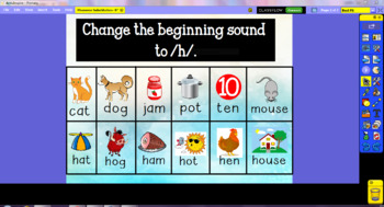 Phoneme Substitution- Beginning Sounds ActivInspire Flipchart