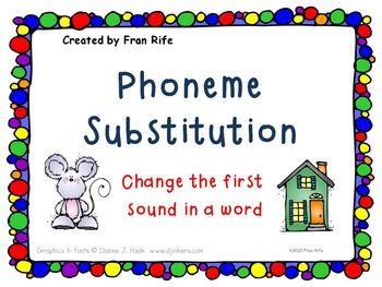 Phoneme Substitution: Change the Beginning Sound