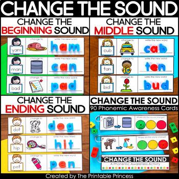 Phoneme Substitution | Change the Sound {Beginning, Middle & End} BUNDLE