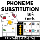 Phoneme Substitution: Initial, Medial, & Final Task Cards
