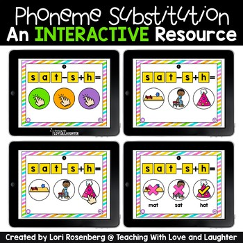 Phoneme Substitution Interactive Games Distance Learning
