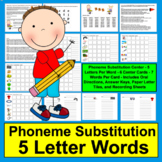 Phoneme Substitution Literacy Centers: Change A Letter- Level 3 - 6 Cards