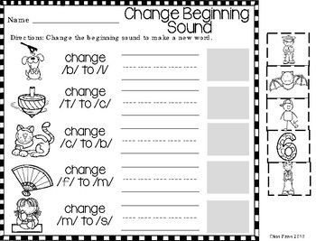 Phoneme Substitution Printables